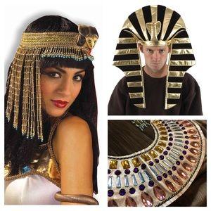 Cleopatra King Tut Egyptian Costumes, Halloween